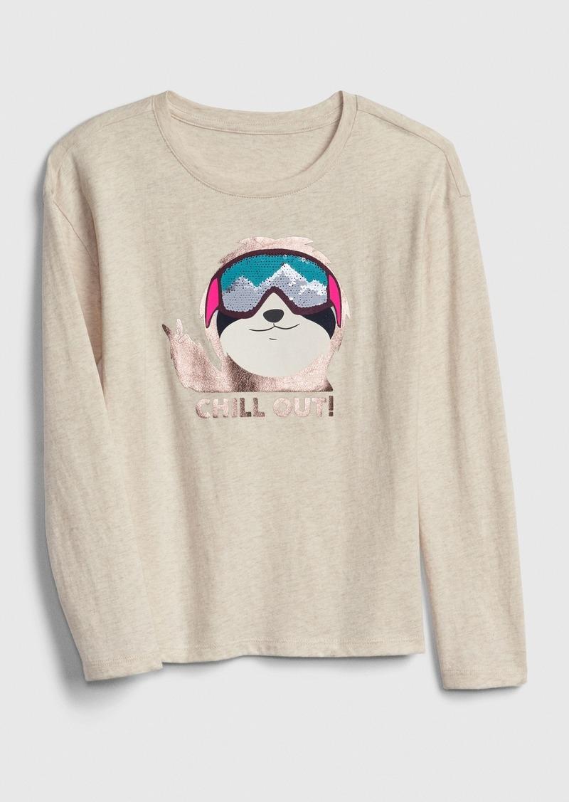 Gap Kids Holiday Flippy Sequin Graphic T-shirt