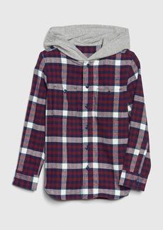 Gap Kids Hoodie Flannel Shirt