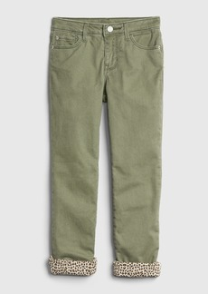 Gap Kids Jersey-Lined Straight Jeans with Fantastiflex