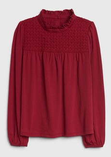 Gap Kids Lace Mockneck Top