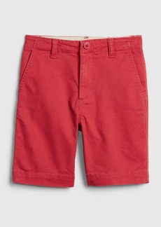Gap Kids Lived-in Khaki Shorts with Stretch