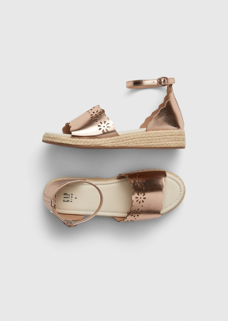 Gap Kids Metallic Espadrille Sandals