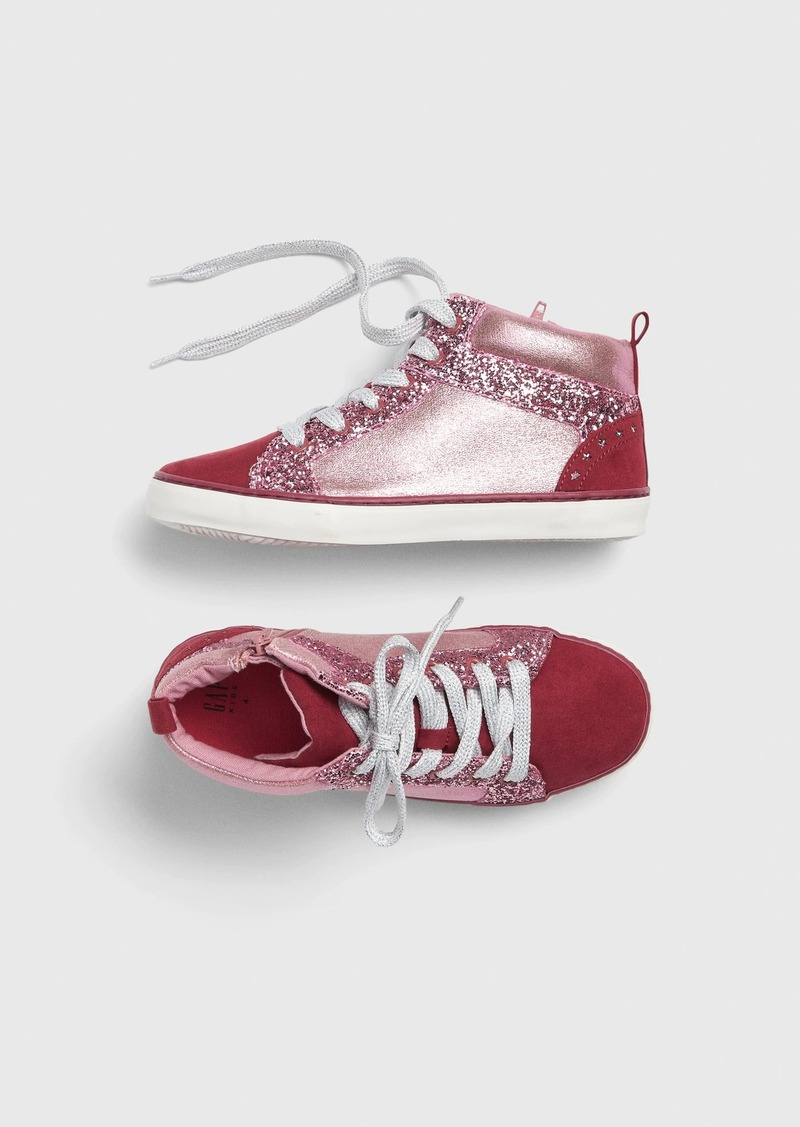 Gap Kids Metallic Hi-Top Sneakers
