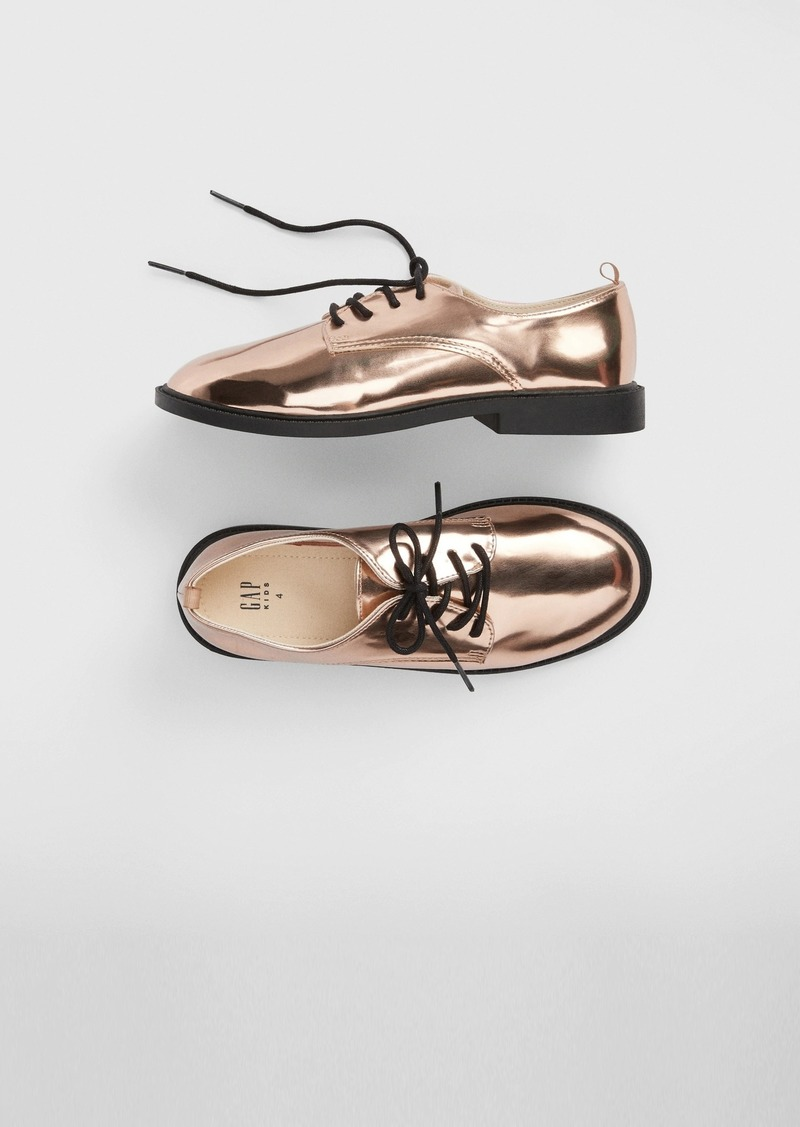 Gap Kids Metallic Oxford Shoes