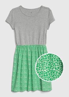 Gap Kids Mix-Fabric Dress