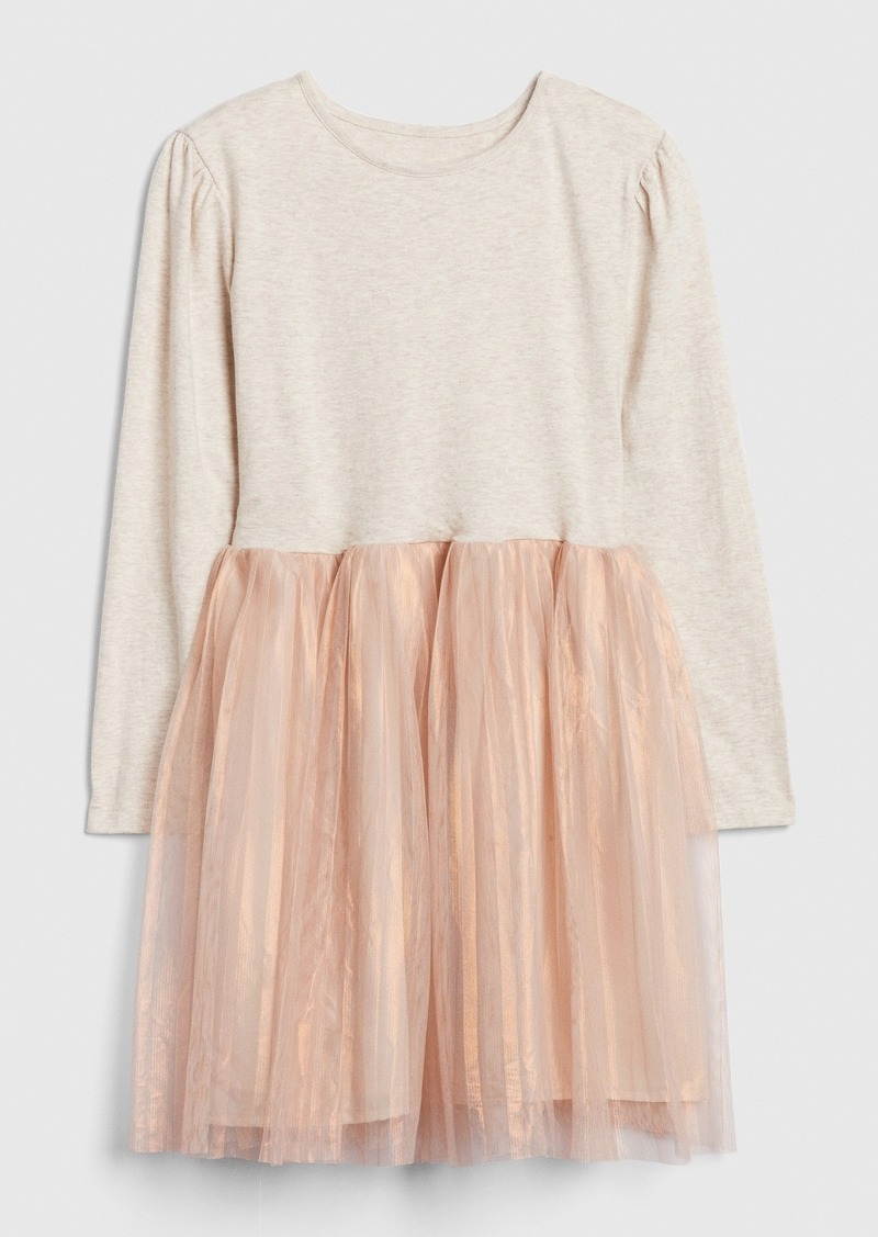 Gap Kids Mix-Media Tulle Dress