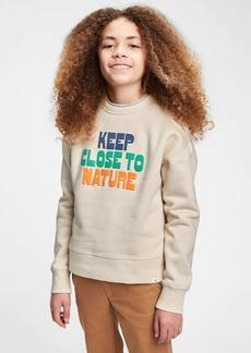 Gap Kids Nature Graphic Crewneck Sweatshirt