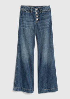 Gap Kids Organic Cotton High Rise Wide-Leg Jeans