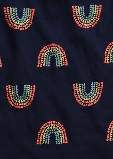Gap Kids 100% Organic Cotton Rainbow Heart PJ Set
