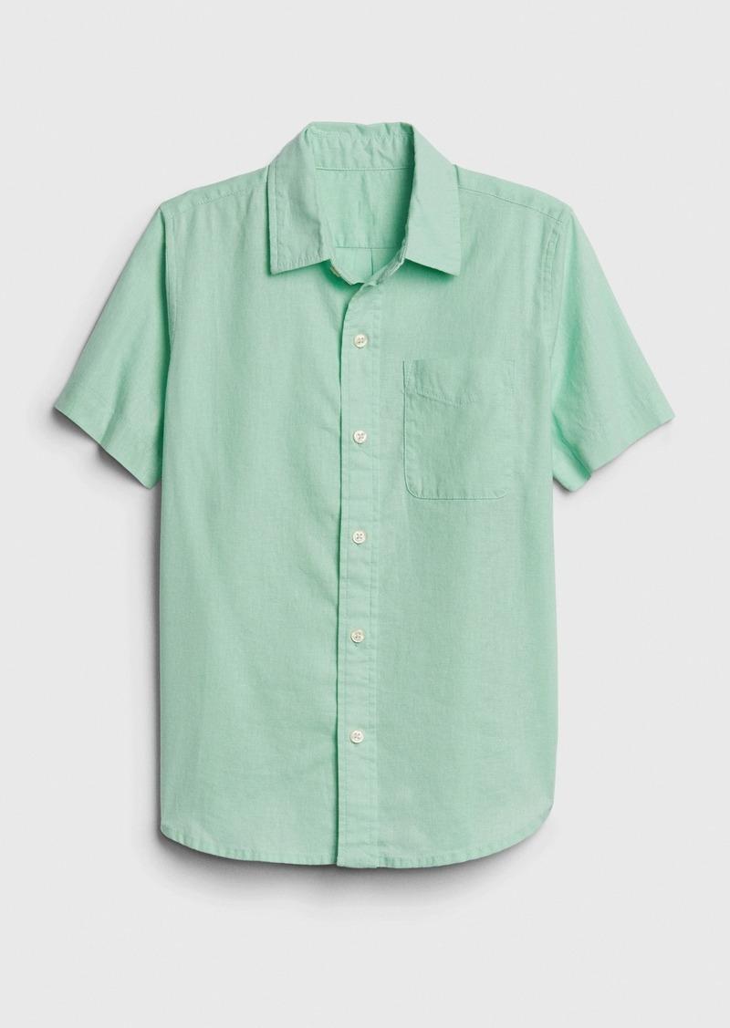 Gap Kids Oxford Short Sleeve Shirt