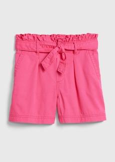 Gap Kids Paperbag-Waist High Rise Shorts