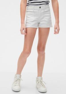 Gap Kids Patch-Pocket Denim Shortie Shorts