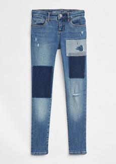 Gap Kids Patchwork Super Skinny Jeans with Fantastiflex