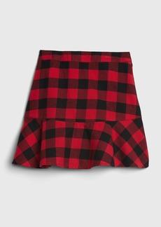 Gap Kids Plaid Drop Waist Skirt