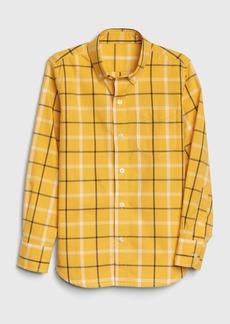 Gap Kids Plaid Poplin Button-Down Shirt