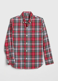 Gap Kids Plaid Poplin Shirt