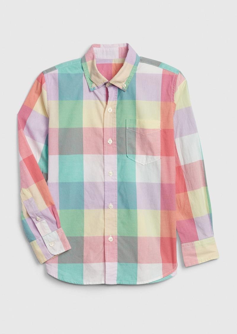 Gap Kids Plaid Poplin Shirt