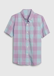 Gap Kids Gingham Dip Dye Shirt