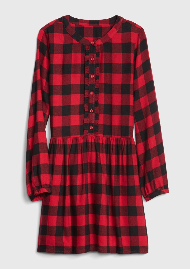 Gap Kids Plaid Ruffle Dress