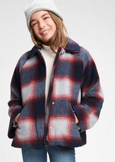 Gap Kids Plaid Wool Jacket