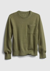 Gap Kids Pocket Crewneck Sweater