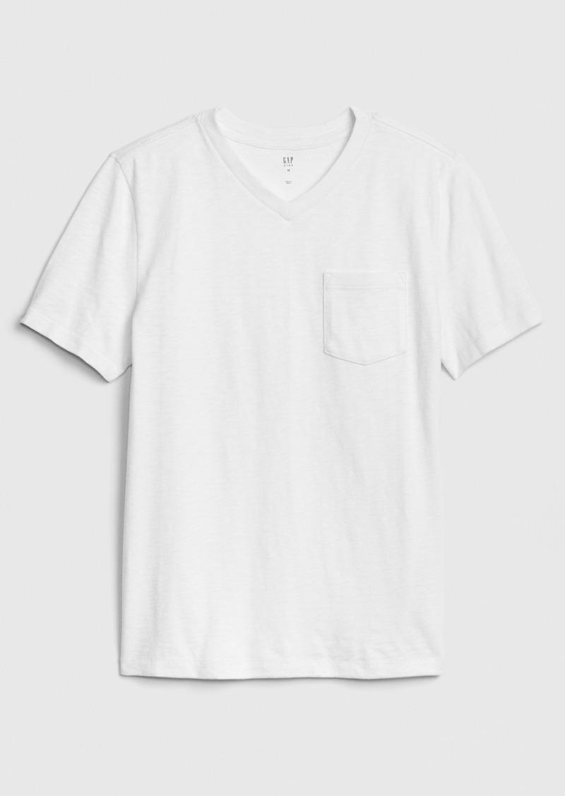 Kids Pocket V-Neck T-Shirt