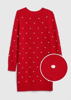Gap Kids Popcorn-Knit Sweater Dress