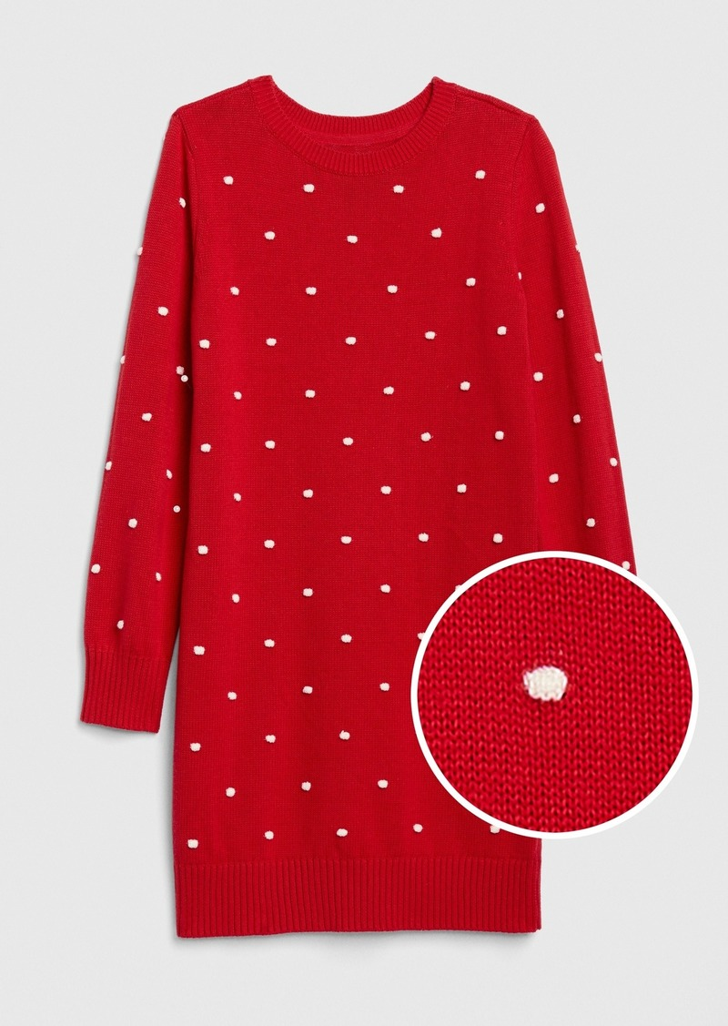 Gap Kids Popcorn-Knit Sweater Dress