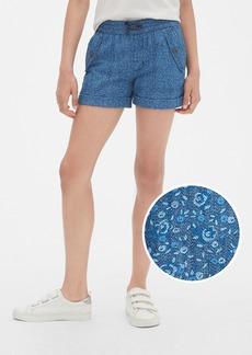 Gap Kids Print Denim Pull-On Shorts