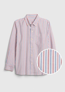 Gap Kids Print Oxford Shirt