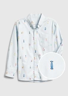 Gap Kids Print Oxford Shirt
