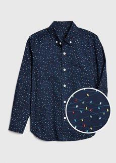 Gap Kids Print Poplin Button-Down Shirt