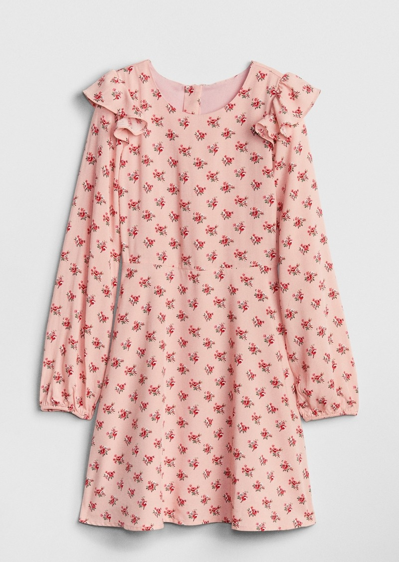 Gap Kids Print Ruffle Dress