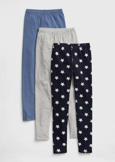 Gap Kids Print Stretch Jersey Leggings (3-Pack)