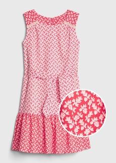 Gap Kids Print Tie-Waist Dress