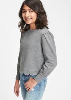 Gap Kids Puff Sleeve Crewneck Sweatshirt