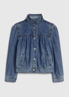 Gap Kids Puff-Sleeve Denim Jacket