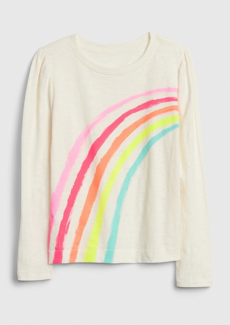 Gap Kids Puff-Sleeve Graphic T-Shirt