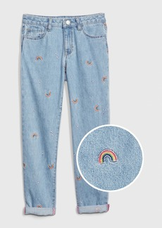 Gap Kids Rainbow Girlfriend Jeans