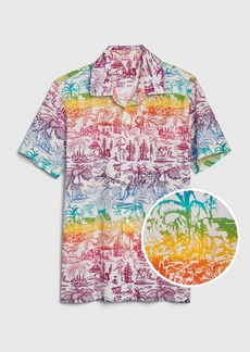 Gap Kids Rainbow Graphic Button-Down Shirt