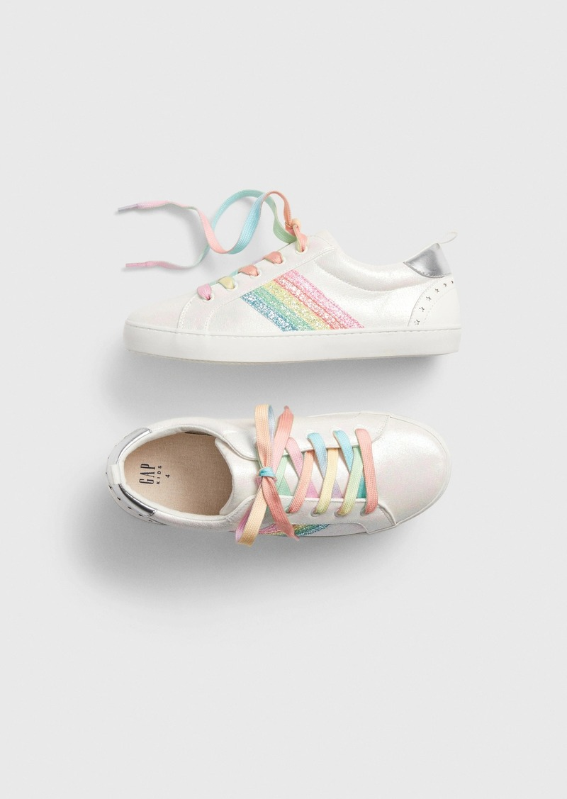 Gap Kids Rainbow Stripe Sneakers