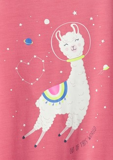 Gap Kids Recycled Llama Graphic PJ Dress