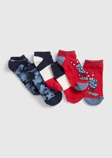 Gap Kids Red, White, and Blue No-Show Socks (3-Pack)