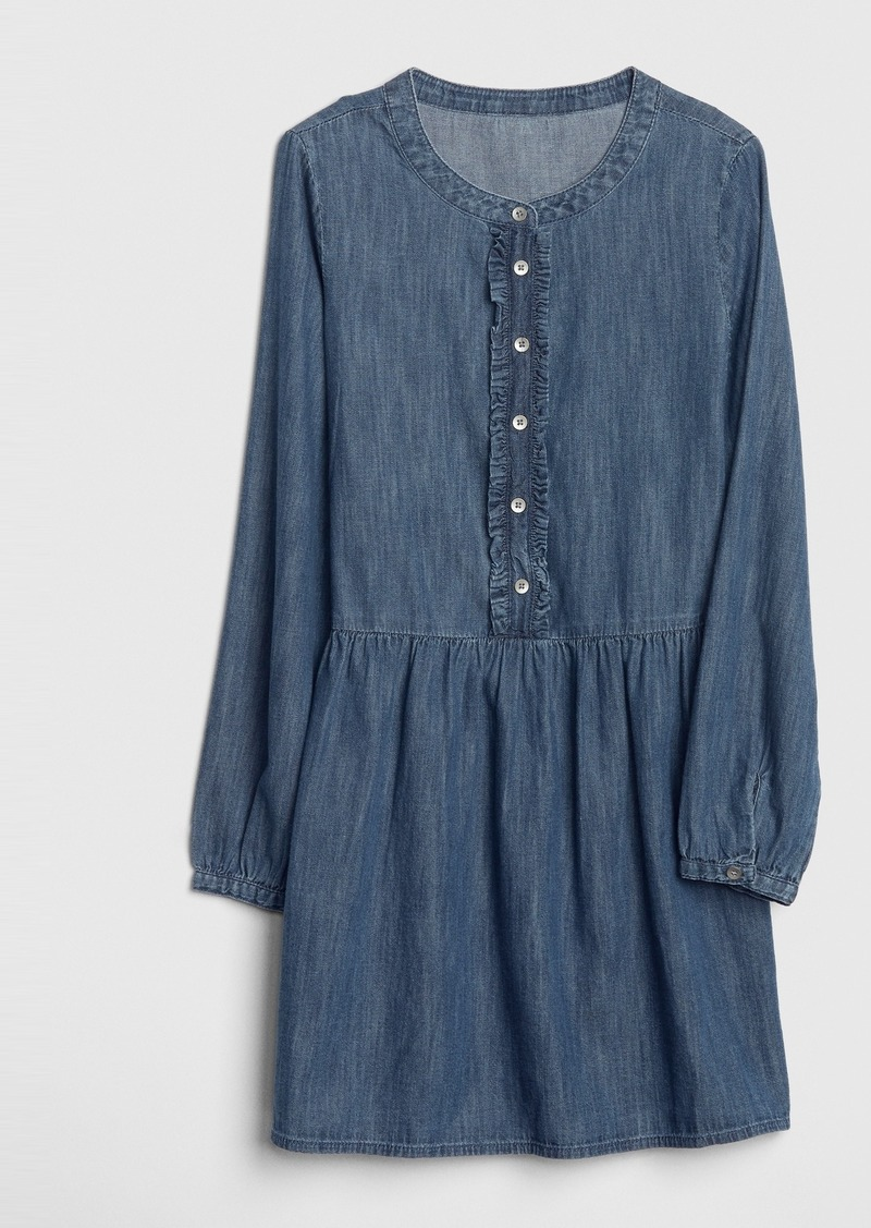 Gap Kids Ruffle Denim Dress