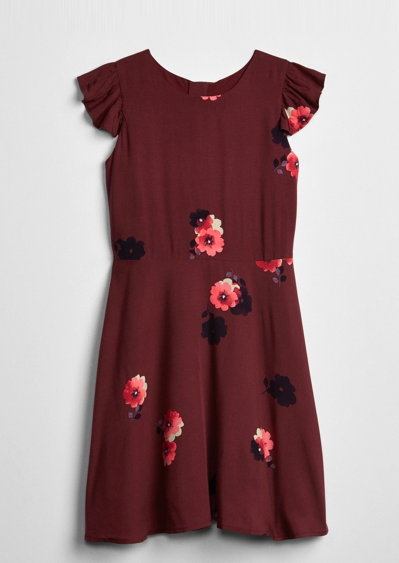 Gap Kids Ruffle Floral Dress