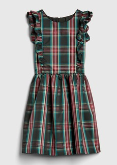 Gap Kids Ruffle Plaid Taffeta Dress
