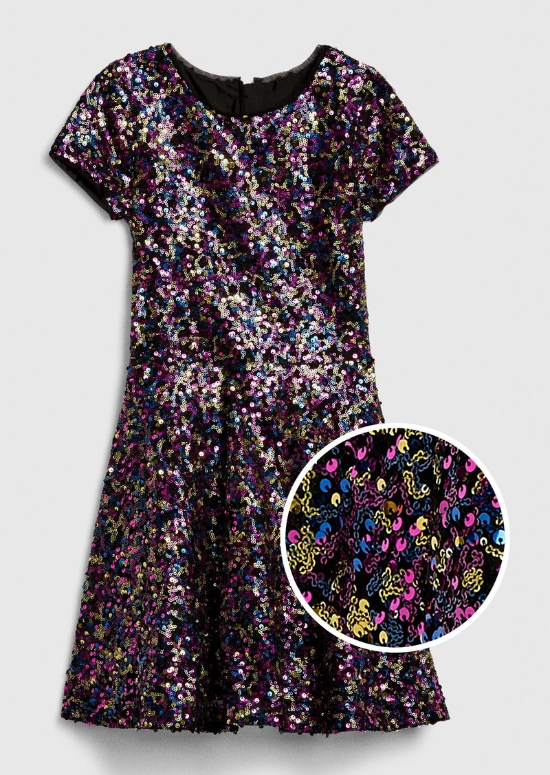 Gap Kids Sequin Fit and Flare Dress