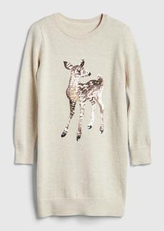 Gap Kids Sequin Graphic Sweater Dress