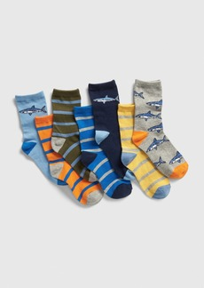 Gap Kids Shark Crew Socks (7-Pack)