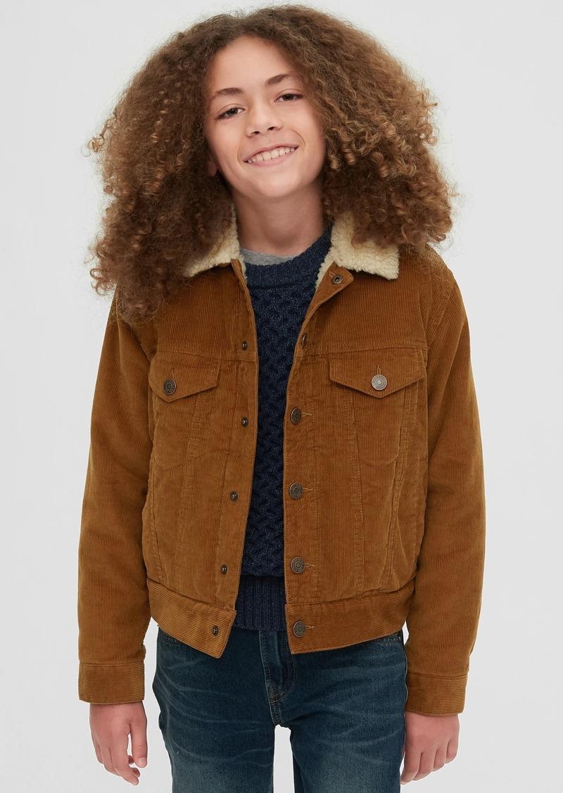 Gap Kids Sherpa Lined Cord Jacket